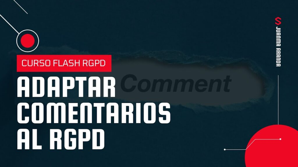 Adaptar comentarios de WordPress al RGPD