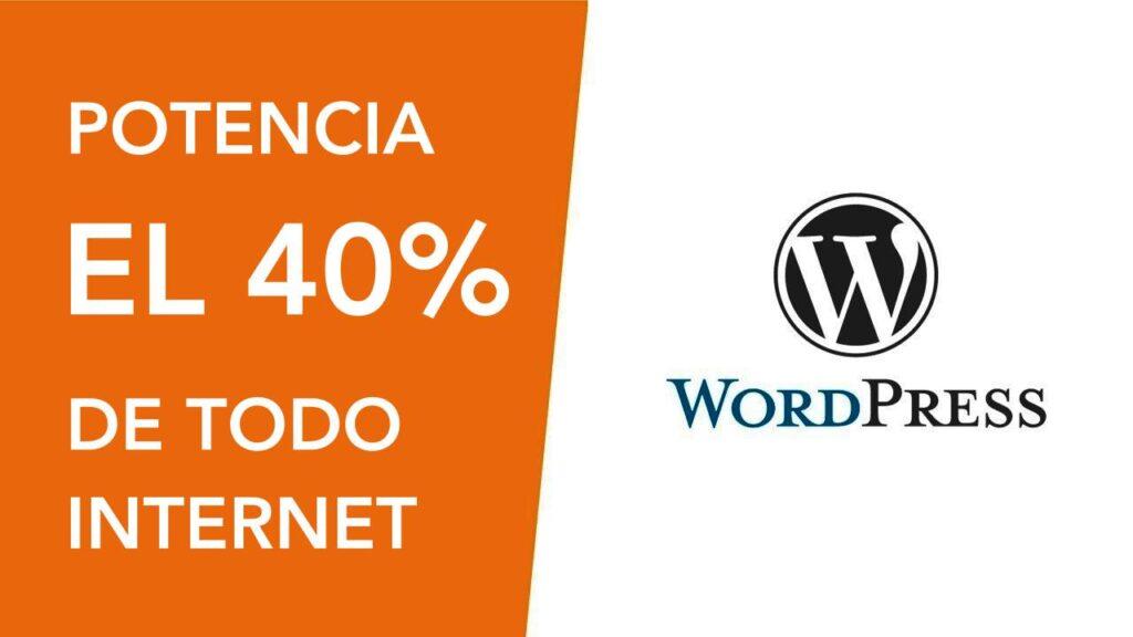 WordPress potencia el 40% de todos los sitios web, el Nuevo Sistema Operativo de Internet.