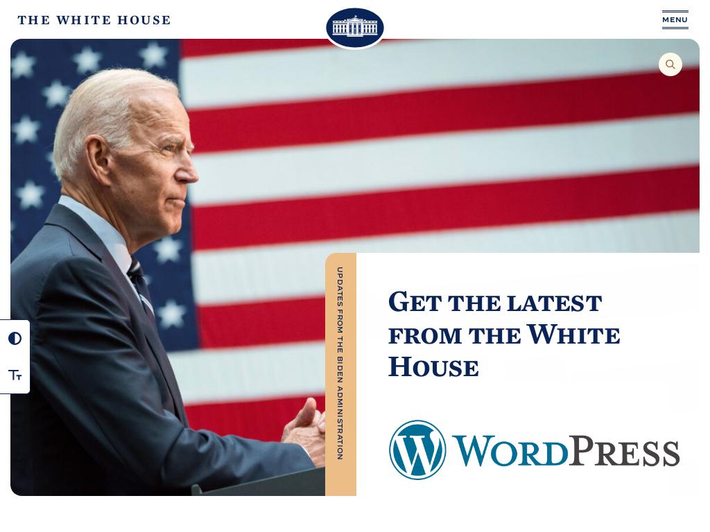 WordPress continúa liderando el sitio web de la Casa Blanca