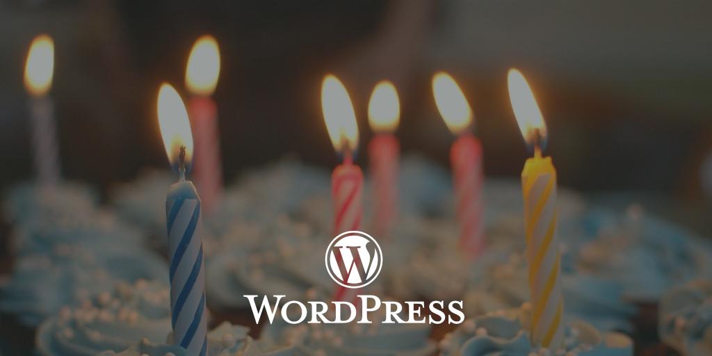 Los 18 años de  WordPress